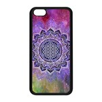 Flower Of Life Indian Ornaments Mandala Universe Apple iPhone 5C Seamless Case (Black) Front