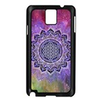 Flower Of Life Indian Ornaments Mandala Universe Samsung Galaxy Note 3 N9005 Case (Black) Front