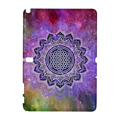 Flower Of Life Indian Ornaments Mandala Universe Samsung Galaxy Note 10 1 (p600) Hardshell Case