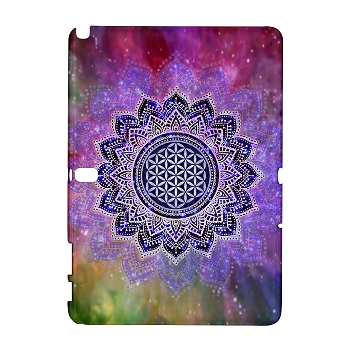 Flower Of Life Indian Ornaments Mandala Universe Samsung Galaxy Note 10.1 (P600) Hardshell Case