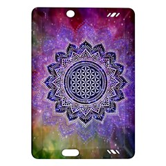 Flower Of Life Indian Ornaments Mandala Universe Amazon Kindle Fire HD (2013) Hardshell Case