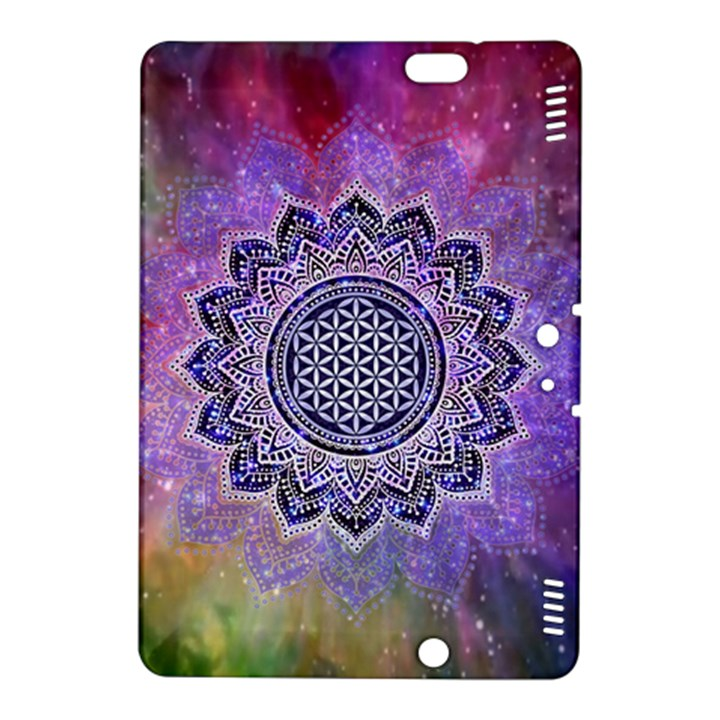 Flower Of Life Indian Ornaments Mandala Universe Kindle Fire HDX 8.9  Hardshell Case