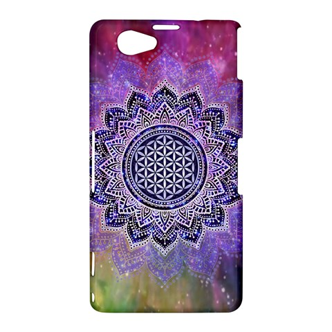 Flower Of Life Indian Ornaments Mandala Universe Sony Xperia Z1 Compact