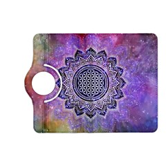 Flower Of Life Indian Ornaments Mandala Universe Kindle Fire Hd (2013) Flip 360 Case