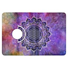 Flower Of Life Indian Ornaments Mandala Universe Kindle Fire Hdx Flip 360 Case