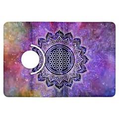 Flower Of Life Indian Ornaments Mandala Universe Kindle Fire HDX Flip 360 Case