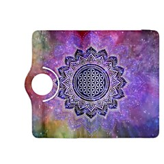 Flower Of Life Indian Ornaments Mandala Universe Kindle Fire HDX 8.9  Flip 360 Case
