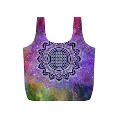 Flower Of Life Indian Ornaments Mandala Universe Full Print Recycle Bags (s)