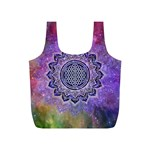 Flower Of Life Indian Ornaments Mandala Universe Full Print Recycle Bags (S)  Front