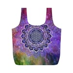 Flower Of Life Indian Ornaments Mandala Universe Full Print Recycle Bags (M)  Front