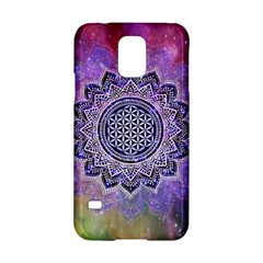 Flower Of Life Indian Ornaments Mandala Universe Samsung Galaxy S5 Hardshell Case