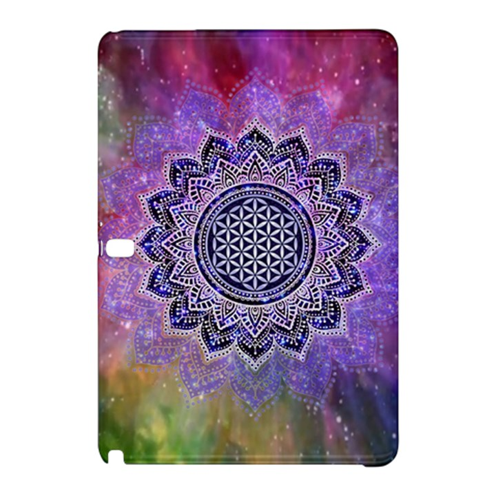Flower Of Life Indian Ornaments Mandala Universe Samsung Galaxy Tab Pro 10.1 Hardshell Case