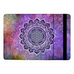 Flower Of Life Indian Ornaments Mandala Universe Samsung Galaxy Tab Pro 10.1  Flip Case Front