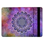 Flower Of Life Indian Ornaments Mandala Universe Samsung Galaxy Tab Pro 12.2  Flip Case Front