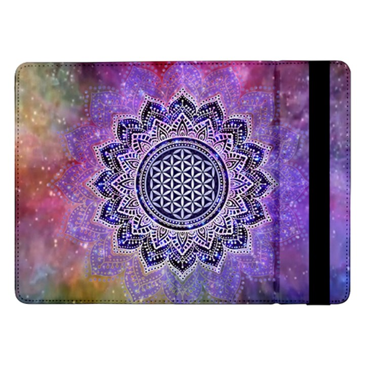 Flower Of Life Indian Ornaments Mandala Universe Samsung Galaxy Tab Pro 12.2  Flip Case