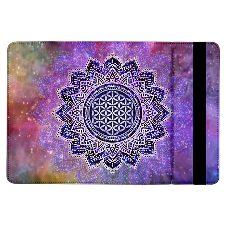 Flower Of Life Indian Ornaments Mandala Universe iPad Air Flip