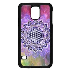Flower Of Life Indian Ornaments Mandala Universe Samsung Galaxy S5 Case (Black)