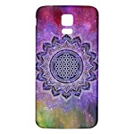 Flower Of Life Indian Ornaments Mandala Universe Samsung Galaxy S5 Back Case (White) Front