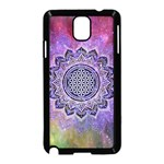 Flower Of Life Indian Ornaments Mandala Universe Samsung Galaxy Note 3 Neo Hardshell Case (Black) Front