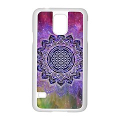 Flower Of Life Indian Ornaments Mandala Universe Samsung Galaxy S5 Case (White)