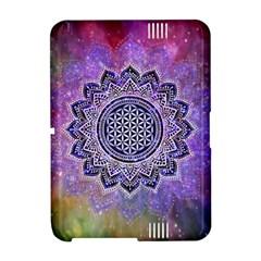 Flower Of Life Indian Ornaments Mandala Universe Amazon Kindle Fire (2012) Hardshell Case