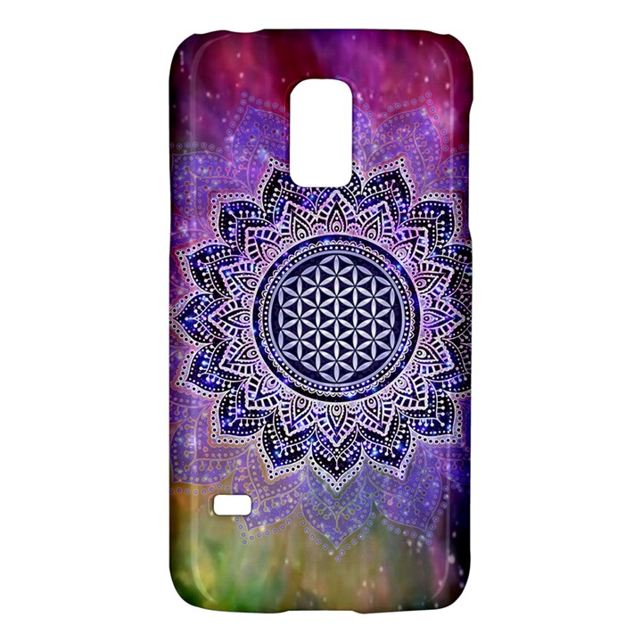 Flower Of Life Indian Ornaments Mandala Universe Galaxy S5 Mini