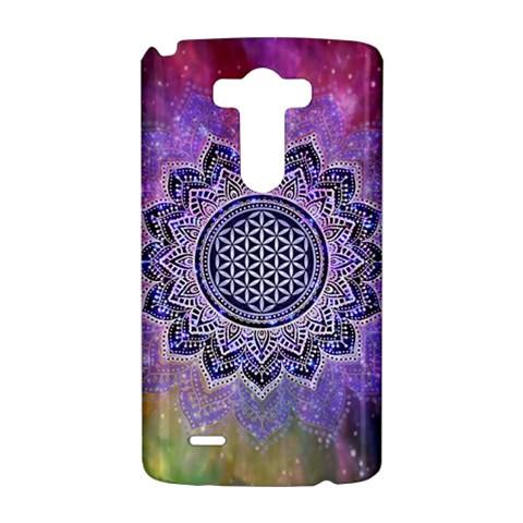 Flower Of Life Indian Ornaments Mandala Universe LG G3 Hardshell Case