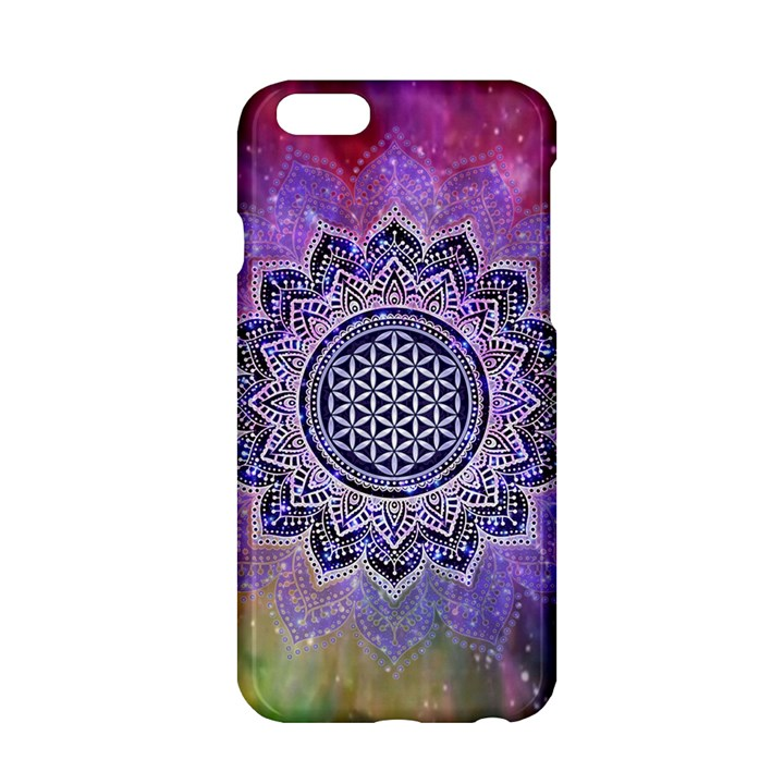 Flower Of Life Indian Ornaments Mandala Universe Apple iPhone 6/6S Hardshell Case