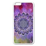 Flower Of Life Indian Ornaments Mandala Universe Apple iPhone 6 Plus/6S Plus Enamel White Case Front