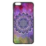 Flower Of Life Indian Ornaments Mandala Universe Apple iPhone 6 Plus/6S Plus Black Enamel Case Front