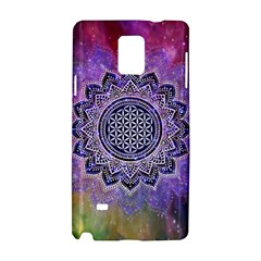 Flower Of Life Indian Ornaments Mandala Universe Samsung Galaxy Note 4 Hardshell Case