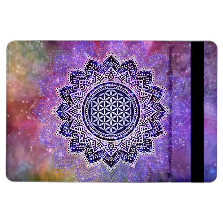 Flower Of Life Indian Ornaments Mandala Universe iPad Air 2 Flip