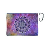 Flower Of Life Indian Ornaments Mandala Universe Canvas Cosmetic Bag (M) Back