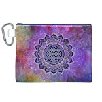 Flower Of Life Indian Ornaments Mandala Universe Canvas Cosmetic Bag (XL) Front