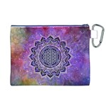 Flower Of Life Indian Ornaments Mandala Universe Canvas Cosmetic Bag (XL) Back