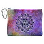 Flower Of Life Indian Ornaments Mandala Universe Canvas Cosmetic Bag (XXL) Front