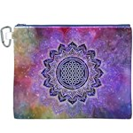 Flower Of Life Indian Ornaments Mandala Universe Canvas Cosmetic Bag (XXXL) Front
