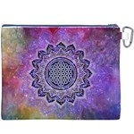 Flower Of Life Indian Ornaments Mandala Universe Canvas Cosmetic Bag (XXXL) Back