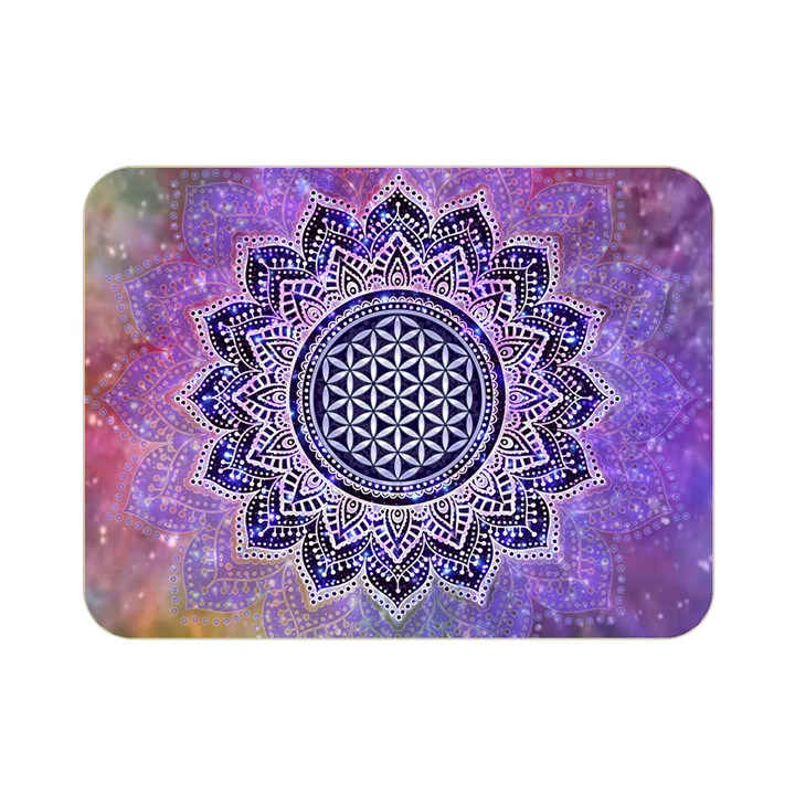 Flower Of Life Indian Ornaments Mandala Universe Double Sided Flano Blanket (Mini)
