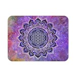 Flower Of Life Indian Ornaments Mandala Universe Double Sided Flano Blanket (Mini)  35 x27 Blanket Back