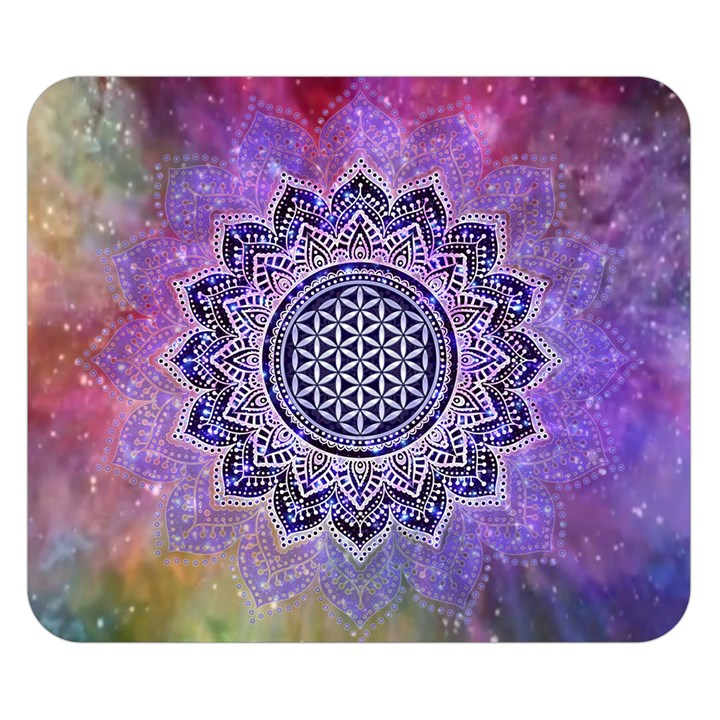 Flower Of Life Indian Ornaments Mandala Universe Double Sided Flano Blanket (Small)