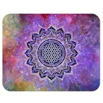 Flower Of Life Indian Ornaments Mandala Universe Double Sided Flano Blanket (Medium)  60 x50 Blanket Front