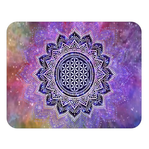 Flower Of Life Indian Ornaments Mandala Universe Double Sided Flano Blanket (Large)