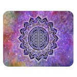 Flower Of Life Indian Ornaments Mandala Universe Double Sided Flano Blanket (Large)  80 x60 Blanket Front