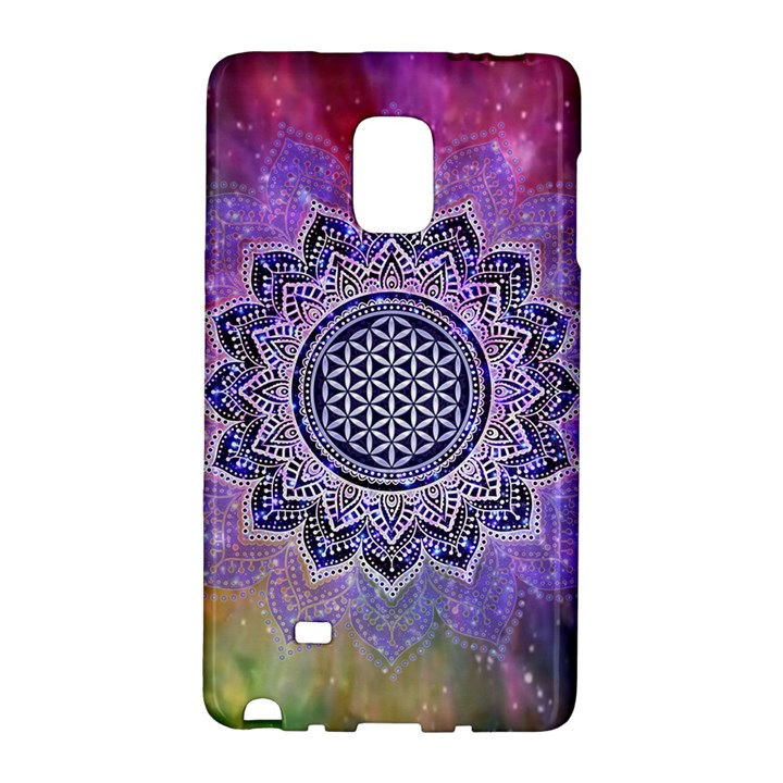 Flower Of Life Indian Ornaments Mandala Universe Galaxy Note Edge