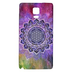 Flower Of Life Indian Ornaments Mandala Universe Galaxy Note 4 Back Case