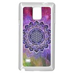 Flower Of Life Indian Ornaments Mandala Universe Samsung Galaxy Note 4 Case (White) Front
