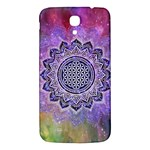 Flower Of Life Indian Ornaments Mandala Universe Samsung Galaxy Mega I9200 Hardshell Back Case Front