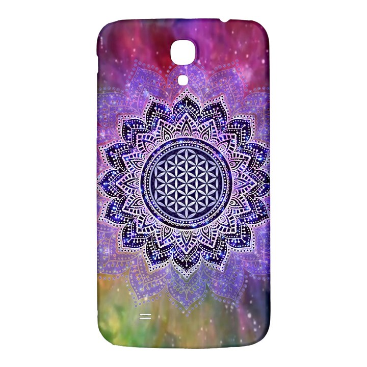 Flower Of Life Indian Ornaments Mandala Universe Samsung Galaxy Mega I9200 Hardshell Back Case