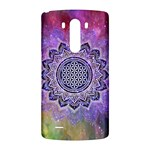 Flower Of Life Indian Ornaments Mandala Universe LG G3 Back Case Front